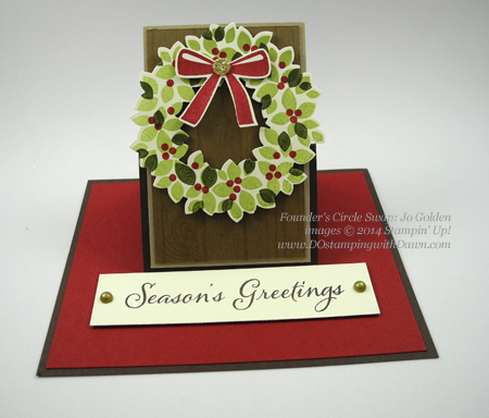 dostamping #christmas #cardmaking #stampinup, Wonderous Wreath Shared by Dawn Olchefske