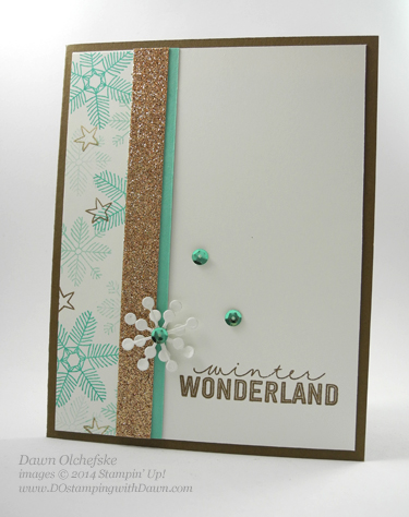 December Wonder stamp set with Snowflake Card Thinlits Die by Dawn Olchefske, dostamping  #DSC108 #cardmaking  #stampinup