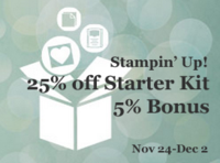 join #StampinUp with DOstamping, Dawn Olchefske, #starterkitspecial November 24-December 2, 25%off