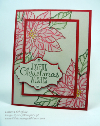 Stampin' Up, Joyful Christmas, Dawn Olchefske, #DOstamping, Christmas Cards