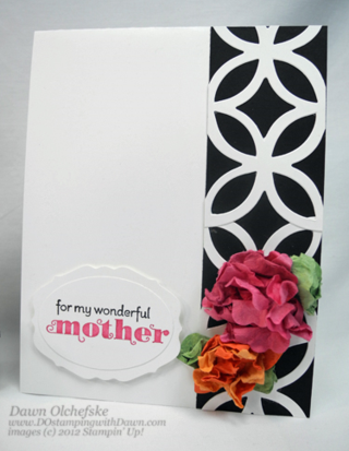 Stampin' Up, Fun Flowers Bigz Die, Dawn Olchefske, #DOstamping, Mothers Day Cards