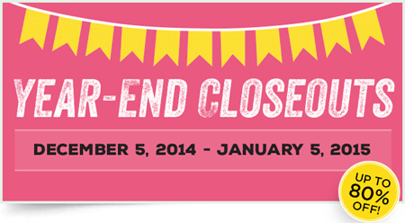 Stampin' Up! year-end closeout sale!  Over 120 discounted products.