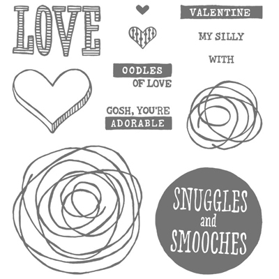 New Arrival: Stampin' Up! Snuggles and Smooches photopolymer #valentine