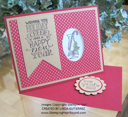Stampin' Up! Making Spirits Bright by Linda Gutierrez, shared by Dawn Olchefske, #dostamping