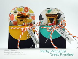 PartyPennants Die Treat Pouches created by Dawn Olchefske #dostamping #stampinup