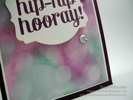 Bokeh stamping technique card & video shared by Dawn Olchefske  #dostamping #stampinup