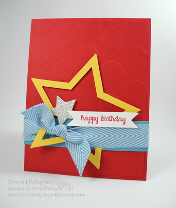 Star Birthday card created by Dawn Olchefske #stampinup #polkadot