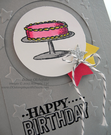 Sale-a-Bration Big Day Birthday card with Blendabiltieis created by Dawn Olchefske #dostamping #stampinup
