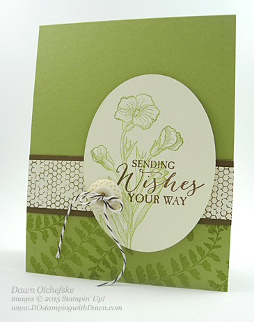 Butterfly Basics swap card for Stampin' Up! leadership created by Dawn Olchefske #dostamping #stampin up