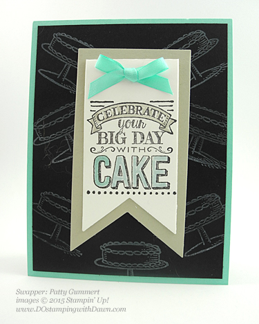 Stampin' Up! Sale a Bration swap cards shared by Dawn Olchefske, #dostamping #big day (Patty Gummert)