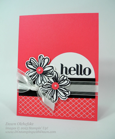 Flower Shop Hello Card Designed by Dawn Olchefske #dostamping #stampinup