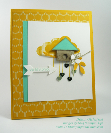 Punch Art Birdhouse Card Designed by Dawn Olchefske #dostamping #stampinup