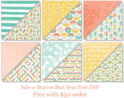 Sale-a-Bration Best Year Ever DSP Dawn Olchefske #dostamping #stampinup