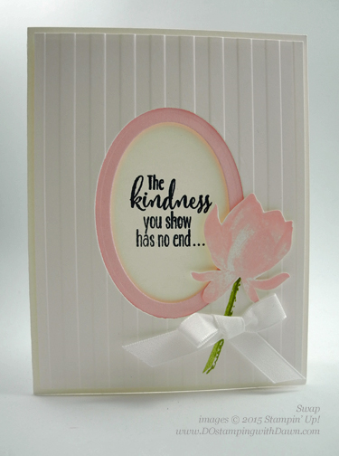 Sale-A-Bration Lotus Blossom swap card shared by Dawn Olchefske #dostamping #stampinup (Helen Osterkamp)