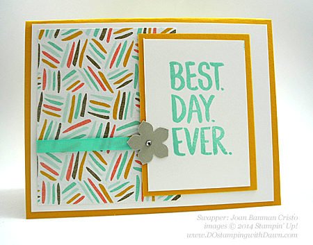 Sale-a-Bration Best Year Ever DSP Swaps shared by Dawn Olchefske #dostamping #stampinup (Joan Banman Cristo)