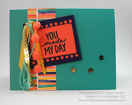 2015 SAB Best Day Ever shared by Dawn Olchefske #dostamping #stampinup (Peggy Goetzke swap)