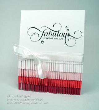 Ombre Technique Fringe Card created by Dawn Olchefske #dostamping #stampinup