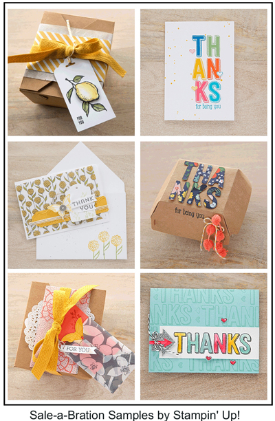 Sale-a-Bration samples by Stampin' Up! shared by Dawn Olchefske #dostamping