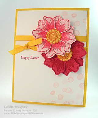 4/07 Weekly Deal Fun Flower Punch card created by Dawn Olchefske #dostamping #stampinup