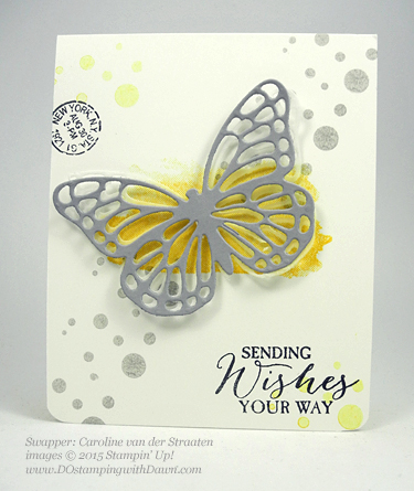 Butterflies Bundle swap cards shared by Dawn Olchefske #dostamping #stampinup (Caroline van der Staaten)