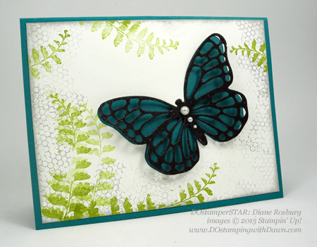 Butterflies Bundle swap cards shared by Dawn Olchefske #dostamping #stampinup (Diane Rosburg)