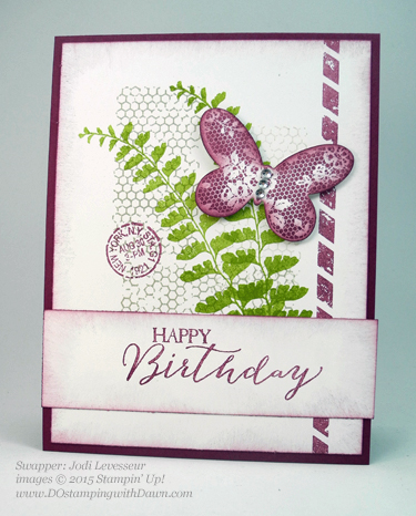 Butterflies Bundle swap cards shared by Dawn Olchefske #dostamping #stampinup (Jodi Levesseur)