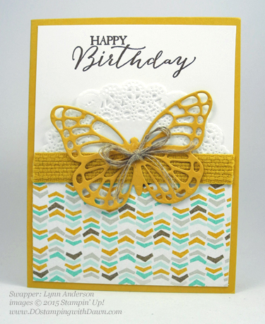 Butterflies Bundle swap cards shared by Dawn Olchefske #dostamping #stampinup (Lynn Anderson)