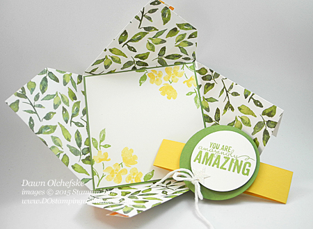 Painted Blooms Fun Fold card video shared by Dawn Olchefske #dostamping #stampinup