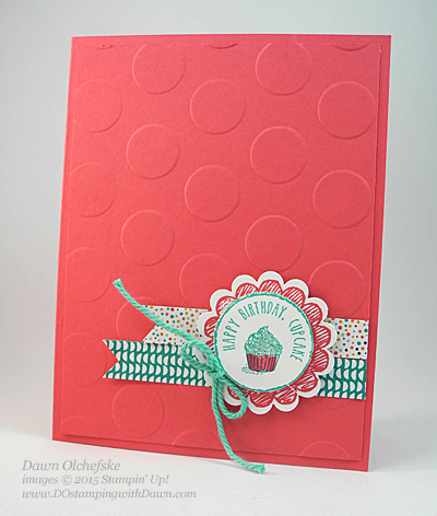 Sketched Birthday card shared by Dawn Olchefske for  DOstamperSTARS Thursday Color Challenge #129 #dostamping #stampinup
