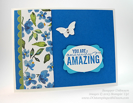 Painted Petals swaps shared by Dawn Olchefske #dostamping #stampinup