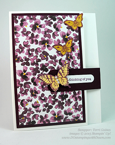 Painted Petals swaps shared by Dawn Olchefske #dostamping #stampinup (Terri Gaines)