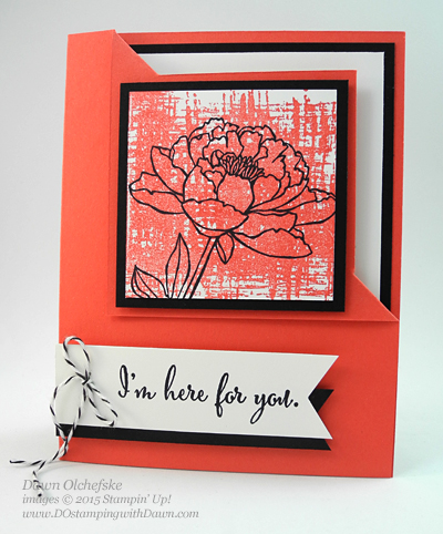 You've Got This Corner Flip card Fun Fold HSDT video series by Dawn Olchefske #dostamping #stampinup
