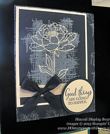 You've Got This Display Board Samples from Hawaii Incentive Trip shared by Dawn Olchefske #dostamping #2015AnnualCatalog