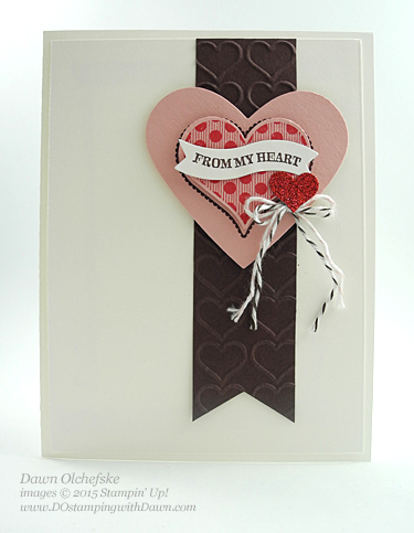 Sweetheart Punch and Groovy Love Hearts card designed by Dawn Olchefske #dostamping #stampinup