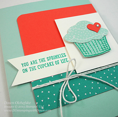 Sprinkles of Life & Tree Builder Punch card shared by Dawn Olchefske #dostamping #stampinup