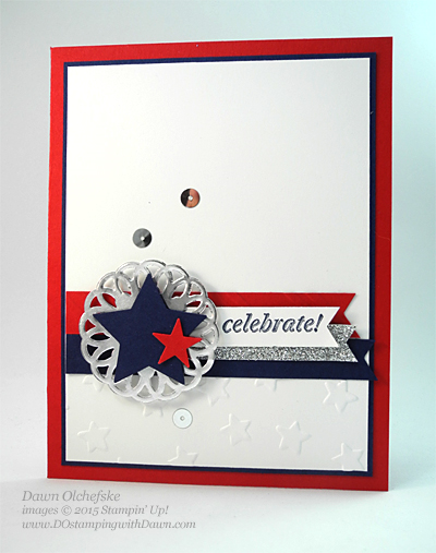 Metallic Doily Patriotic Card by Dawn Olchefske for DOstamperSTARS Thursday Challenge #139 #dostamping #stampinup