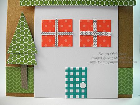 June 2015 Paper Pumpkin House Card alternate idea by Dawn Olchefske  #dostamping #stampinup