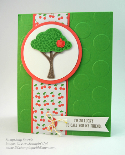 Sprinkles of Life swaps cards shared by Dawn Olchefske #dostamping #stampinup, Amy Storrie