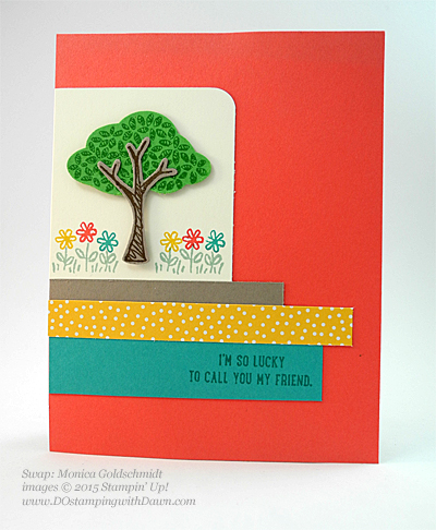 Sprinkles of Life swaps cards shared by Dawn Olchefske #dostamping #stampinup, Monica Goldschmidt