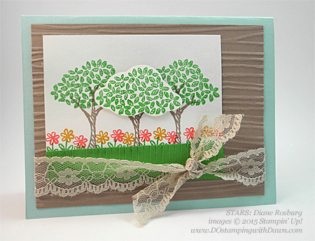 STARS Sprinkle of Life swap card shared by Dawn Olchefske #dostamping #stampinup, Diane Rosburg