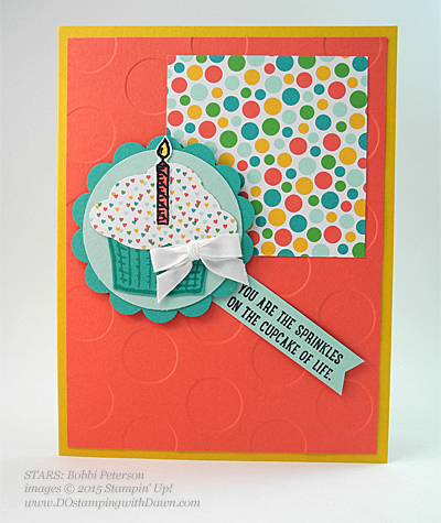 STARS Sprinkle of Life swap card shared by Dawn Olchefske #dostamping #stampinup, Bobbi Peterson