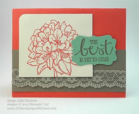 Best Thoughts swap cards shared by Dawn Olchefske #dostamping #stampinup, Julie Davison
