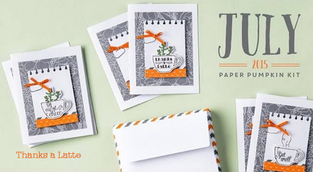 July 2015 Thanks a Latte Paper Pumpkin alternate ideas by Dawn Olchefske  #dostamping #stampinup