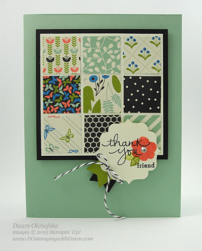 Endless Thanks & Pretty Petals DSP card shared by Dawn Olchefske #dostamping #stampinup