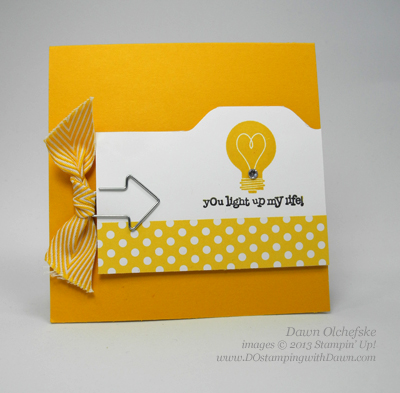 Mini Index Card using Envelope Punch Board Created by Dawn Olchefske #dostamping #stampinup