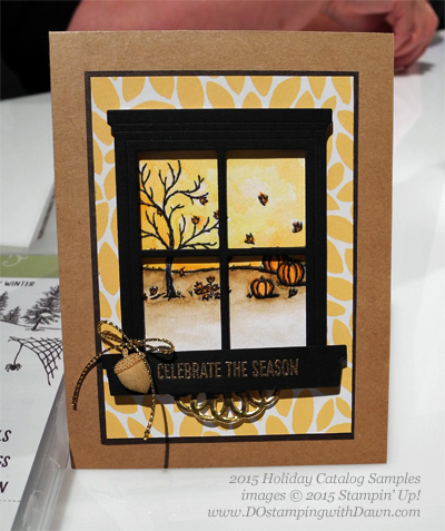 Happy Scenes Bundle 2015 Holiday Catalog convention samples shared by Dawn Olchefske #dostamping #stampinup