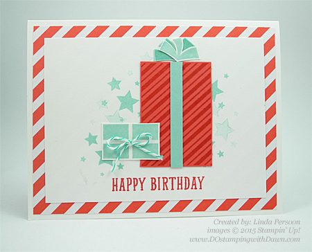 Your Presents stamp set from 2015 Holiday Catalog shared by Dawn Olchefske #dostamping #stampinup (Linda Persoon)