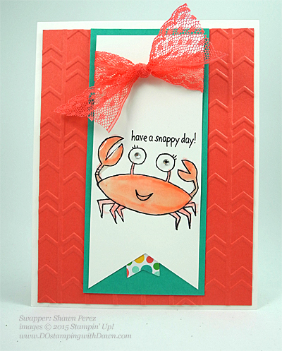 You're Sublime swap card shared by Dawn Olchefske #dostamping #stampinup (by Shawn Perez)