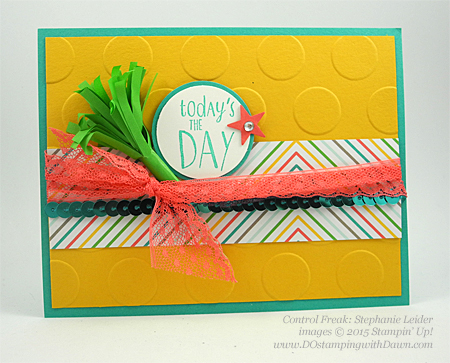 Happy Happenings swap card shared by Dawn Olchefske #dostamping #stampinup (by Stephanie Leider)