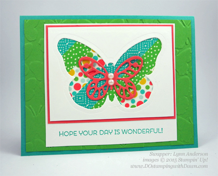 Cottage Greetings swap card shared by Dawn Olchefske #dostamping #stampinup (by  Lynn Anderson)